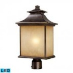 ELK Lighting One Light Hazlenut Bronze Post Light - 42184/1-LED